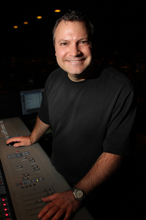 "The man behind the sound board at ""Comedy in Action."""