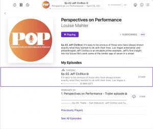 Perspectives on Performance Podcast